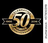 celebrating 50th years... | Shutterstock .eps vector #457850398