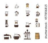 set of vector coffee elements... | Shutterstock .eps vector #457856815