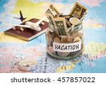 vacation budget concept.... | Shutterstock . vector #457857022