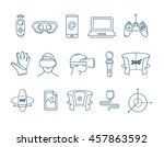 set of linear icons virtual... | Shutterstock .eps vector #457863592