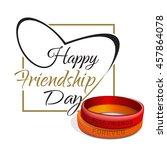 friendship day lettering card.... | Shutterstock .eps vector #457864078