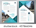 business brochure flyer design... | Shutterstock .eps vector #457866346