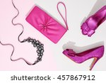 fashion. clothes accessories... | Shutterstock . vector #457867912