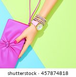 fashion clothes accessories set.... | Shutterstock . vector #457874818