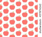 apple seamless pattern on the... | Shutterstock .eps vector #457876162