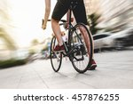 man on a bicycle | Shutterstock . vector #457876255