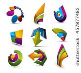 geometric abstract shapes.... | Shutterstock . vector #457877482