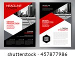 business brochure flyer design... | Shutterstock .eps vector #457877986