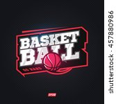 modern professional basketball... | Shutterstock .eps vector #457880986