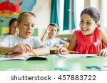 children learn together in... | Shutterstock . vector #457883722