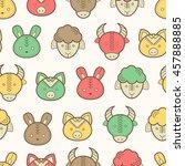 seamless regular pattern with... | Shutterstock . vector #457888885