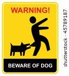 Beware Of The Mad Dog   Warnin...