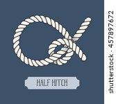 single illustration of nautical ... | Shutterstock .eps vector #457897672