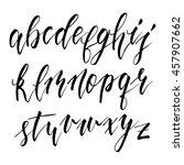hand drawn english calligraphic ... | Shutterstock .eps vector #457907662
