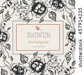 floral background  invitation ... | Shutterstock .eps vector #457914235