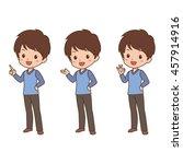 man pose | Shutterstock .eps vector #457914916