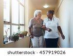 portrait of smiling healthcare... | Shutterstock . vector #457919026