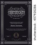 premium certificate template... | Shutterstock .eps vector #457920286