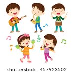 illustrator vector of children... | Shutterstock .eps vector #457923502