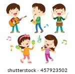illustrator vector of children... | Shutterstock .eps vector #457923502