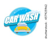 vector car wash icon isolated... | Shutterstock .eps vector #457925962