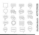 speech bubble set illustration...   Shutterstock .eps vector #457929838