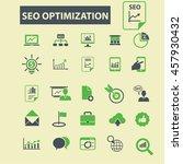seo optimization icons | Shutterstock .eps vector #457930432