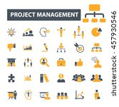project management icons | Shutterstock .eps vector #457930546