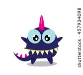 vector cartoon funny dragon... | Shutterstock .eps vector #457934098