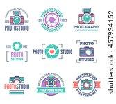 photo studio labels  badges ... | Shutterstock .eps vector #457934152