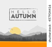 Vector Of Autumn Landscape....