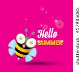 hello summer vector background... | Shutterstock .eps vector #457935082