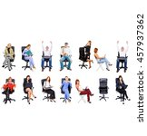many colleagues united company  | Shutterstock . vector #457937362
