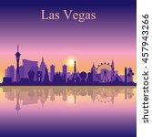 las vegas skyline silhouette on ...   Shutterstock .eps vector #457943266