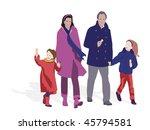parents taking kids for ice... | Shutterstock .eps vector #45794581