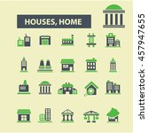 houses  home icons | Shutterstock .eps vector #457947655