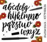 vector alphabet. brush style... | Shutterstock .eps vector #457948636