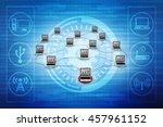computer network 3d rendering | Shutterstock . vector #457961152