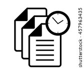 files time icon | Shutterstock .eps vector #457963435