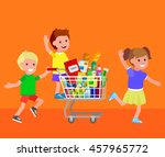 concept illustration for shop ... | Shutterstock .eps vector #457965772