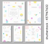 set of artistic colorful... | Shutterstock .eps vector #457967632