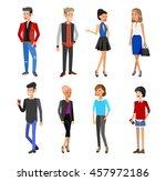 creative team people. teamwork  ... | Shutterstock .eps vector #457972186