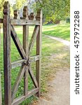 Vintage Wooden Rural Gate In...