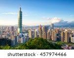 Small photo of Skyline of Xinyi District in downtown Taipei, Taiwan.
