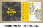 vintage pizza menu design | Shutterstock .eps vector #457980382