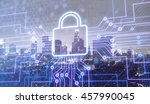 security graphic. | Shutterstock . vector #457990045