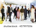 abstract blur people stand in... | Shutterstock . vector #457997056