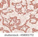 modern floral seamless pattern... | Shutterstock .eps vector #458001772