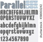 parallel black and white font... | Shutterstock . vector #458003242