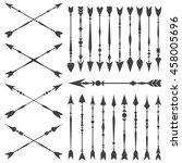 arrow clip art set in on white... | Shutterstock .eps vector #458005696